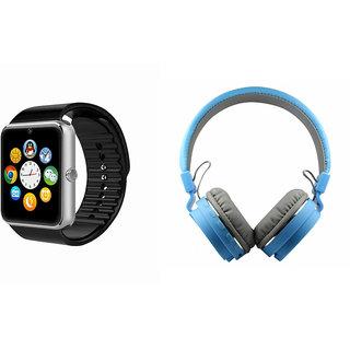 Zemini GT08 Smart Watch and SH 12 Bluetooth Headphone for LG OPTIMUS L5 II(GT08 Smart Watch with 4G sim card, camera, memory card |SH 12 Bluetooth Headphone )