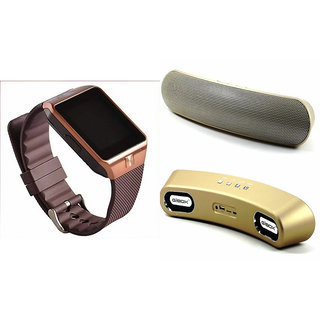 Zemini DZ09 Smart Watch and Gibox G6 Bluetooth Speaker for XOLO A500(DZ09 Smart Watch With 4G Sim Card, Memory Card| Gibox G6 Bluetooth Speaker)