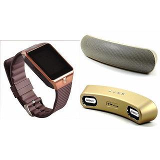 Zemini DZ09 Smart Watch and Gibox G6 Bluetooth Speaker for HTC DESIRE 600C(DZ09 Smart Watch With 4G Sim Card, Memory Card  Gibox G6 Bluetooth Speaker)