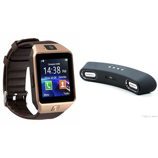 Zemini DZ09 Smart Watch and Gibox G6 Bluetooth Speaker for MICROMAX CANVAS ELANZA.(DZ09 Smart Watch With 4G Sim Card, Memory Card| Gibox G6 Bluetooth Speaker)