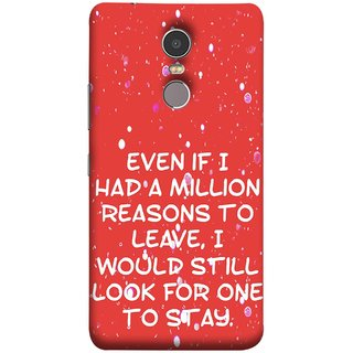 FUSON Designer Back Case Cover for Lenovo K6 Note (Even Million Reason To Leave I Would Look For One)