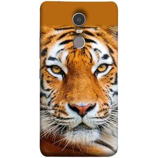 FUSON Designer Back Case Cover for Lenovo K6 Note (Wild Jungle Tigers Whisker Roaring Sitting Safari India)