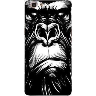 FUSON Designer Back Case Cover for Oppo F1s (Animal Background Open Ears Black Hairs Jungle Nose)