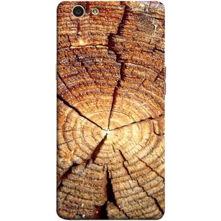 FUSON Designer Back Case Cover for Oppo F1s (Lot Of Cracks In Tree Wood Wild Old Tree)
