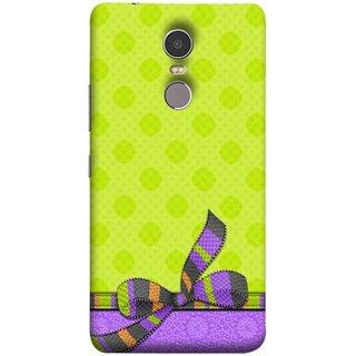 FUSON Designer Back Case Cover for Lenovo K6 Note (Pista Green Colour Gift Wrap Packing Wallpaper)