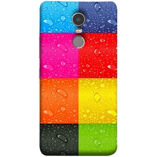 FUSON Designer Back Case Cover for Lenovo K6 Note (Water Droplets Multicolour Blue Red Pink Sky )