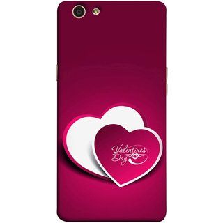 FUSON Designer Back Case Cover for Oppo F1s (Just Pinky Say Always I Love You Red Hearts Couples)