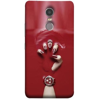 FUSON Designer Back Case Cover for Lenovo K6 Note (Lady Hand With Maroon Watch Nail Polish )