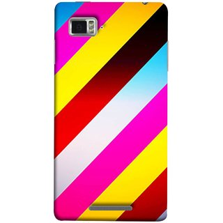 FUSON Designer Back Case Cover for Lenovo Vibe Z K910 (Gliding Striped Fabric Floral Patterns Shining Dark Patterns)