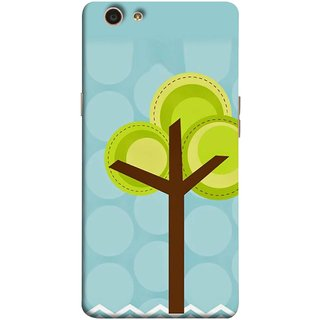 FUSON Designer Back Case Cover for Oppo F1s (Brown Branches Hand Artwork Green Leaves Water )