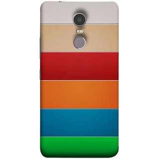 FUSON Designer Back Case Cover for Lenovo K6 Note (Rainbow Colours Bright Bands Red Orange Blue)