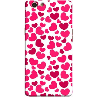 FUSON Designer Back Case Cover for Oppo F1s (Abstract Love Heart Background Lovers Valentine)