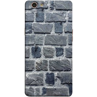 FUSON Designer Back Case Cover for Oppo F1s (Irregular Shapes Cement Ancient Different Sizes Wall)