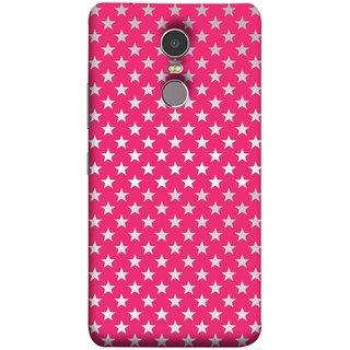 FUSON Designer Back Case Cover for Lenovo K6 Note (Small Lot Of Stars Red Back Shining Glossy Baby)