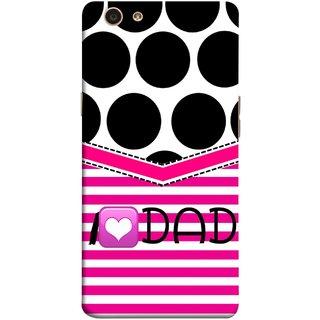 FUSON Designer Back Case Cover for Oppo F1s (Pink Design Paper Big Black Circles Bubbles )