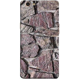 FUSON Designer Back Case Cover for Oppo F1s (Sandstone Bricks Of Irregular Shapes Slotting Together )