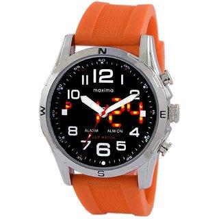 Maxima Analog-Digital Black Dial Mens Watch - 38071PPAN