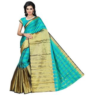 1289d51de4 Reeva Trendz Women's Printed Cotton Silk saree with blouse piece(AURA74 )