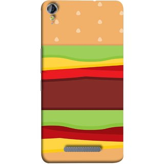 FUSON Designer Back Case Cover for Micromax Canvas Juice 3+ Q394 :: Micromax Canvas Juice 3 Plus Q394 (Artwork Green Red Lines Brown Circles Bubbles)