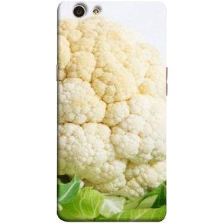 FUSON Designer Back Case Cover for Oppo F1s (Organic Cauliflower Background Table Farmer Subji)