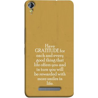 FUSON Designer Back Case Cover for Micromax Canvas Juice 3+ Q394 :: Micromax Canvas Juice 3 Plus Q394 (Life Offer You And In Turn You Will Be Rewarded With )