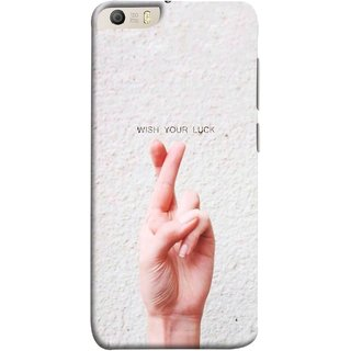 FUSON Designer Back Case Cover for Micromax Canvas Knight 2 E471 (Always Wish You Best Success Happy Palm )