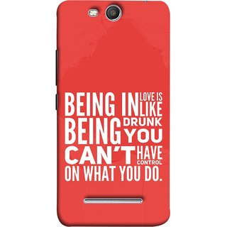 FUSON Designer Back Case Cover for Micromax Canvas Juice 3 Q392 (Being Drunk You Can'T Have Control On What You Do)