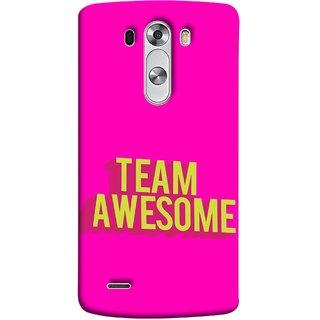 FUSON Designer Back Case Cover for LG G3 :: LG G3 Dual LTE :: LG G3 D855 D850 D851 D852 (Teamwork Is Best Hardwork Alltogether Result Best)