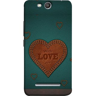 FUSON Designer Back Case Cover for Micromax Canvas Juice 3 Q392 (Dil Se Tumhare Sath Always Leather Jacket Hearts)