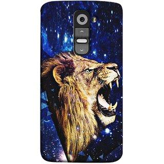 FUSON Designer Back Case Cover for LG G2 :: LG G2 Dual D800 D802 D801  D802TA D803 VS980 LS980  (Wallpaper Abstract Grunge Whiskers Sharp Teeth )