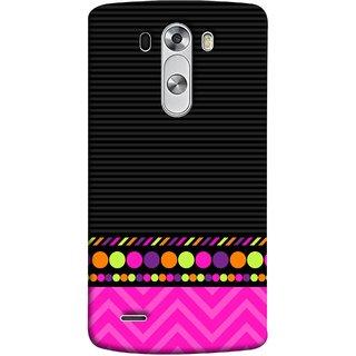 FUSON Designer Back Case Cover for LG G3 :: LG G3 Dual LTE :: LG G3 D855 D850 D851 D852 (White Pack Craft Paper Dots Black Background)