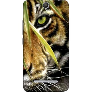 FUSON Designer Back Case Cover for Micromax Canvas Juice 3 Q392 (Animal Bengal Indian Jungle King Whiskers Grass)