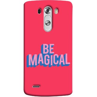 FUSON Designer Back Case Cover for LG G3 :: LG G3 Dual LTE :: LG G3 D855 D850 D851 D852 (Wand Magically Make Differnece To Others Life )
