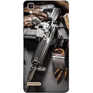 FUSON Designer Back Case Cover for Oppo F1 :: A35 (Rounds Ammunition Bullets Guns Aurora Murders)
