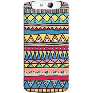 FUSON Designer Back Case Cover for Oppo N1 (Tribal Patterns Colourful Eye Catching Verity Different )
