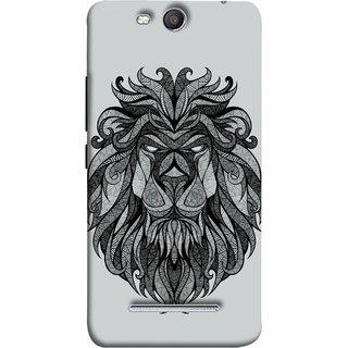 FUSON Designer Back Case Cover for Micromax Canvas Juice 3 Q392 (Jungle Ka King Pencil Pen Sketch Best Wallpaper)