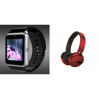 Buy Clairbell GT08 Smart Watch and Extra Bass XB 450 Headphon for