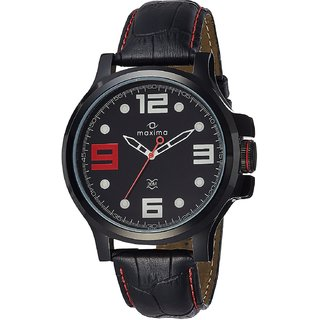 Maxima Analog Black Dial Mens Watch - 28280LMGB