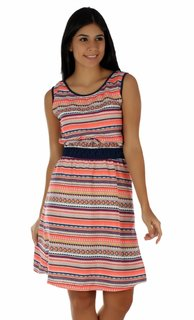 Yaadleen Crepe Multi Color Fit And Flare Dress