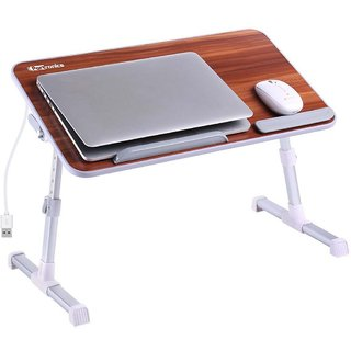 Portronics POR 895 My Buddy Plus Adjustable laptop cooling table, portable laptop desk, portable laptop table, Portable Cooling Pad   E  Table
