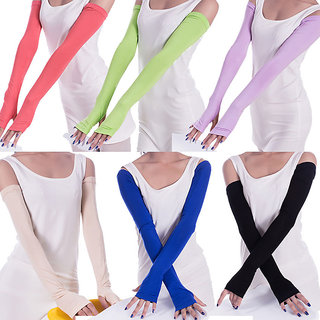 Women Anti UV Sun Protection Arm Sun Sleeves Gloves