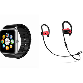 ClairbellGT08 Smart Watch and QC 10 Bluetooth Headphone for Moto G5(GT08 Smart Watch with 4G sim card, camera, memory card |QC 10 Bluetooth Headphone )