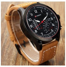 Capture Fashion 2016 New  Curren Branded Wristwatch Lea