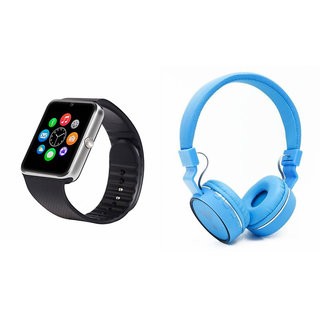 Clairbell GT08 Smart Watch and SH 10 Bluetooth Headphone for MICROMAX CANVAS NITRO 2(GT08 Smart Watch with 4G sim card, camera, memory card |SH 10 Bluetooth Headphone )