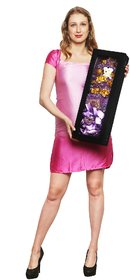 24K Gold 10 Roses And a Teddy Bouquet With Velvet Gift Box (21 Inch)