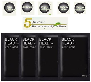 Gutargoo 4 pack 24g Black Mask For Blackhead Whitehead Pores Face Nose Face Mask Masks 50 gm Pack of 4