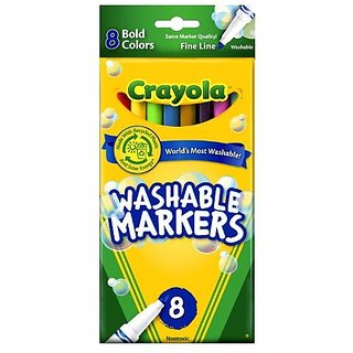 Crayola Washable Markers Bold Colors Fine Tip 8 Count 2 Packs
