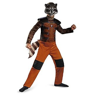 Disguise Marvel Guardians of The Galaxy Rocket Raccoon Classic Boys Costume Large 10-12 L (10-12)