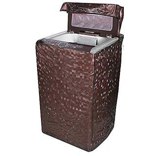 Delfi Classic Dark Brown Colour With Square Design Top Load Washing Machine Cover