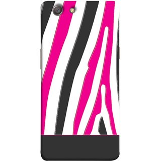FUSON Designer Back Case Cover for Oppo Neo 5 :: Oppo A31 :: Oppo Neo 5S 2015 (Curved Straignt Acrylic Texture Lines Oil Paint Bright)